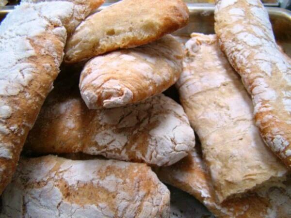 Pão ciabatta - Dicas de comidas típicas italiana