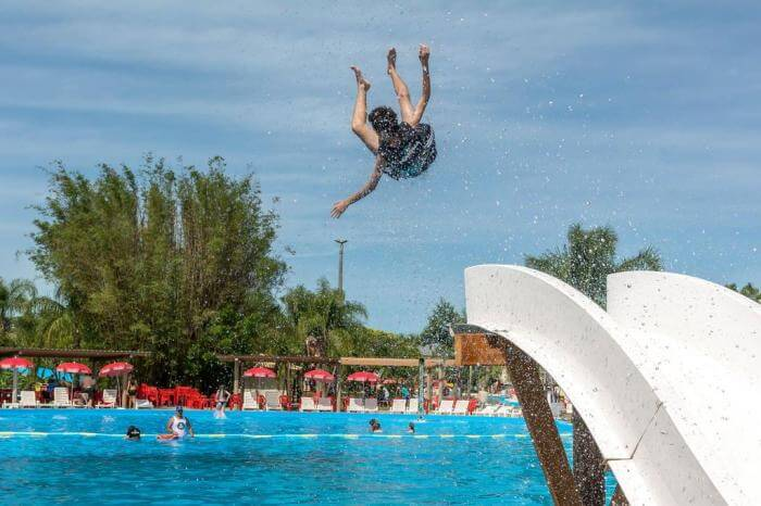 Marina Park diversão para os banhistas